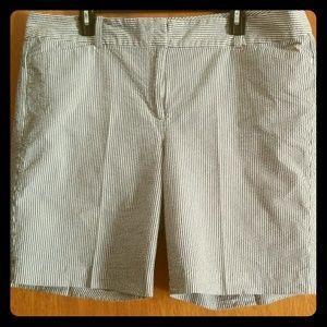 Seersucker shorts womens